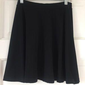 Topshop black knit skater skirt